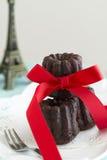 Cannele del chocolate Imagen de archivo
