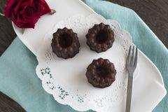 Cannele del chocolate Fotografía de archivo