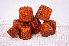 Canneles de la torta del francés Imagen de archivo