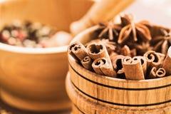 Cannella e chiodi di garofano Fotografie Stock
