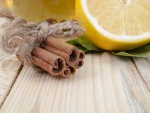 Cannella e limone Fotografia Stock