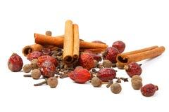 Cannella e pepe del chiodo di garofano Fotografia Stock