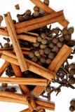 Cannella e pepe del chiodo di garofano Immagine Stock Libera da Diritti