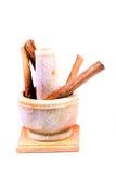 Cannella e smerigliatrice Fotografia Stock
