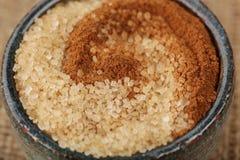 Cannella e zucchero fotografia stock libera da diritti