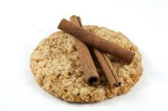 Cannella sul biscotto Immagini Stock