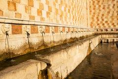 99 Cannelle Brunnen von Aquila Italien Lizenzfreie Stockfotos