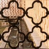 99 Cannelle Brunnen von Aquila Italien Stockbilder