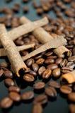 Cannelle et café Image libre de droits