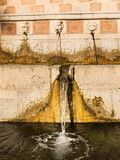 99 Cannelle Fountain of Aquila Italy Royalty Free Stock Photography