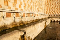 99 Cannelle Fountain of Aquila Italy Royalty Free Stock Photos