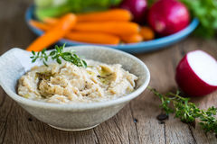 Cannellini or White beans dip Royalty Free Stock Photos