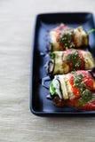 Cannellone vegetariano della melanzana immagini stock libere da diritti