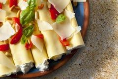 Cannelloni Imagen de archivo
