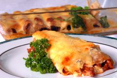 Cannelloni. Dishes from the Italian restaurant Stock Images