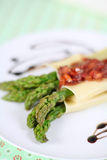 Cannelloni with asparagus Stock Image