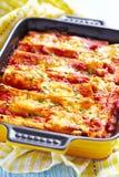 Cannelloni avec de la viande Images stock