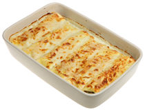 Cannelloni in Casserole Dish Royalty Free Stock Photo