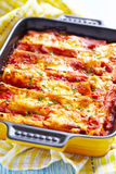 Cannelloni com carne Imagens de Stock