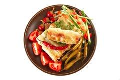 Cannelloni con la cereza fresca del tomate Imagenes de archivo