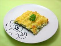Cannelloni con spinaci e la ricotta asciutta Immagine Stock
