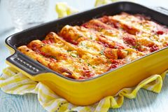 Cannelloni with meat Royalty Free Stock Photo