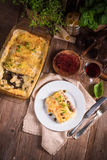 Cannelloni with mince filling and capers Royalty Free Stock Photography