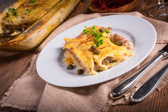 Cannelloni with mince filling and capers Royalty Free Stock Image