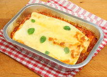 Cannelloni Ready Meal Stock Photo