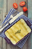 Cannelloni with ricotta and spinach Royalty Free Stock Images