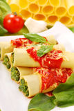 Cannelloni with spinach Stock Image
