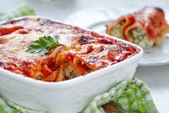 Cannelloni with spinach and ricotta Stock Image