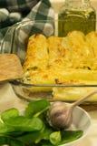 Cannelloni z ricotta i szpinakiem karmowy włoski tradycyjny carpaccio kuchni doskonale stylu życia, jedzenie luksus włoski Zdjęcie Royalty Free