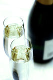 Cannelure de champagne de plan rapproché photos libres de droits