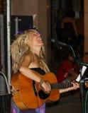Cannelure de ressort au festival de musiciens de rue de Ferrare Photo libre de droits