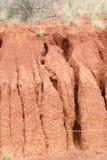 Cannelures au sol d'eau profonde d'érosion en sable photo stock
