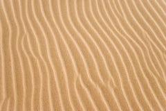 Cannelures d'or de sable Images libres de droits