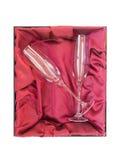 cannelures de cristal de champagne Photographie stock libre de droits