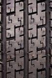 Cannelures sur le détail de pneu Photo libre de droits