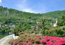 Cannero Riviera, lago Maggiore, Piedmont, Itália imagens de stock royalty free