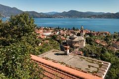 Cannero Riviera town at lake Maggiore Stock Photo