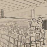 cannery ilustración del vector