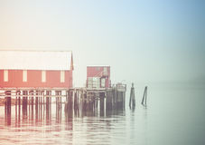 The Cannery in Fog Stock Images