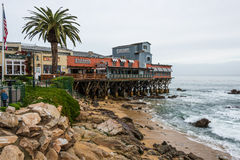 Cannery Row Pier, Beach, Monterey Bay California Stock Photography