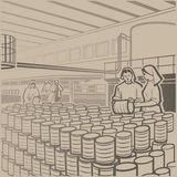 Cannery vector illustration