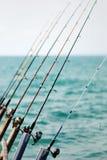 cannes à pêche Image stock