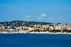 Cannes. Beautiful view of Cannes and its croisette stock image
