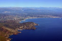 Cannes Aerial View, Cote d`azur Provence France stock image