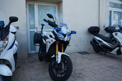 Police Motorcycles, Cannes stock photography