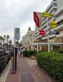 Cannes - architecture de ville image stock